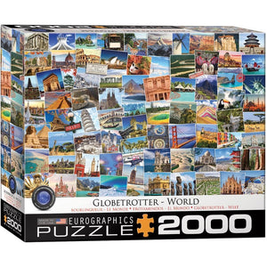Globetrotter World Travel Puzzle 1000 Piece