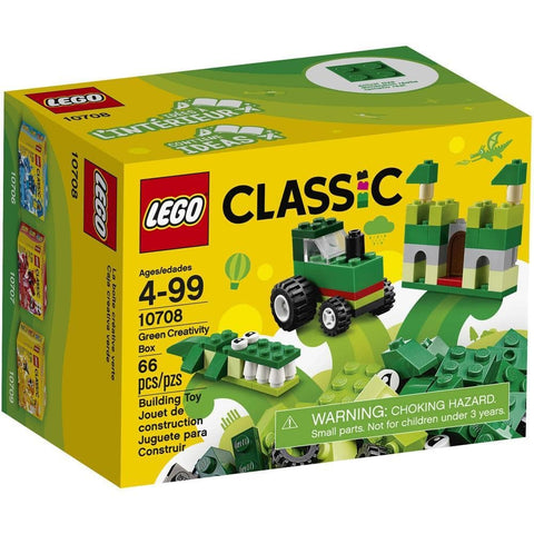 Green Creativity Lego Box Product Packaging Image