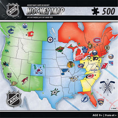 NHL Hockey Map Puzzle 500 Piece