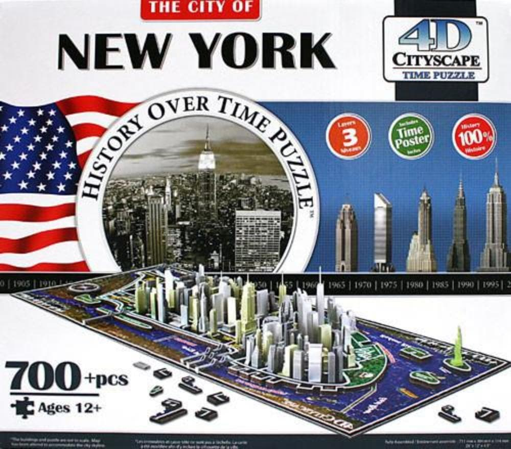4D Cityscape New York Puzzle - Calendar Club of Canada - 1