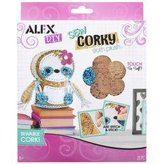 731346003270 Sew Corky Sloth Plush Alex Brands - Calendar Club1