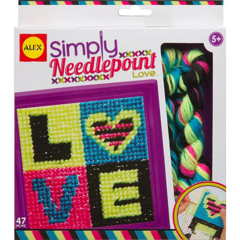 Love Simply Needlepoint Craft Kit Product Packaging Image