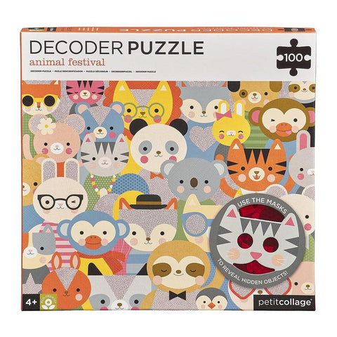 Animal Festival Decoder Puzzle 100 Piece