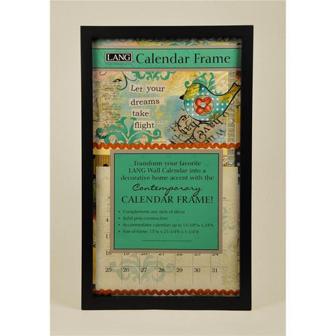 Black Contemporary Wooden Calendar Frame - Online Exclusive