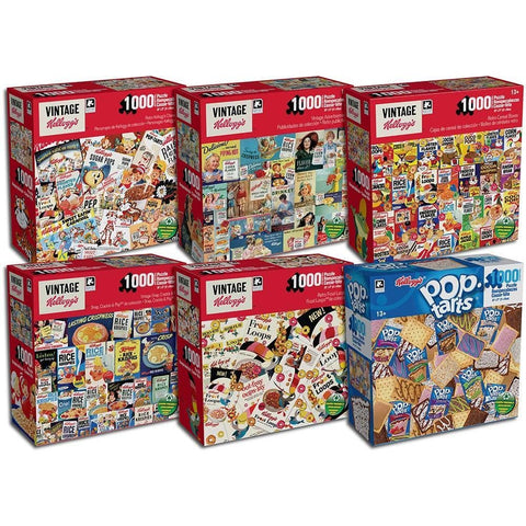 Vintage Kelloggs 1000 pc Puzzle  Assortment - Each Sold Separately