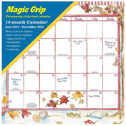 Joyful Seasons 2020 Magic Grip Wall Calendar