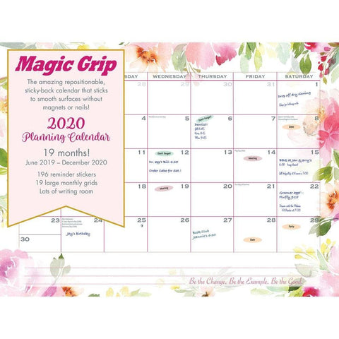 Watercolor Super Jumbo 2020 Magic GripWall Calendar