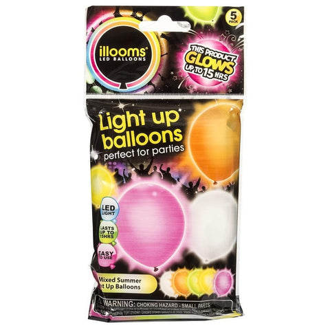 Light Up Balloons 5pk