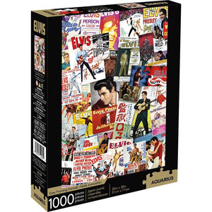Elvis Movie Poster Collage Puzzle 1000 Piece