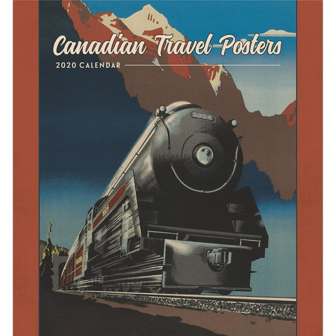 Canadian Travel Posters 2020 Wall Calendar Front Cover