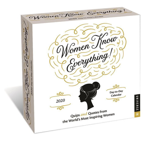 Women Know Everything 2020 Box Calendar Front Cover