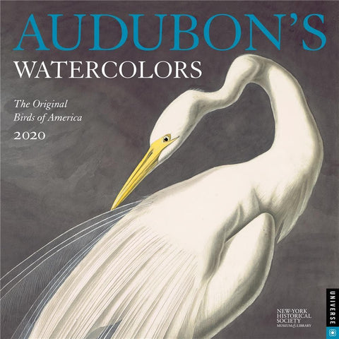 Audubons Watercolors 2020 Wall Calendar Front Cover