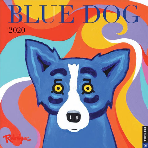 Blue Dog 2020 Wall Calendar Front Cover