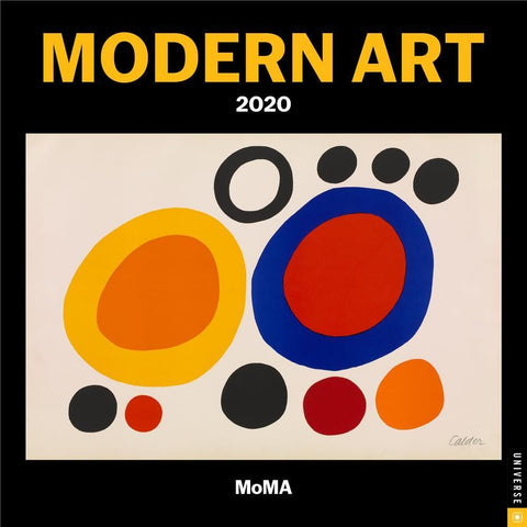 Modern Art 2020 Mini Calendar Front Cover
