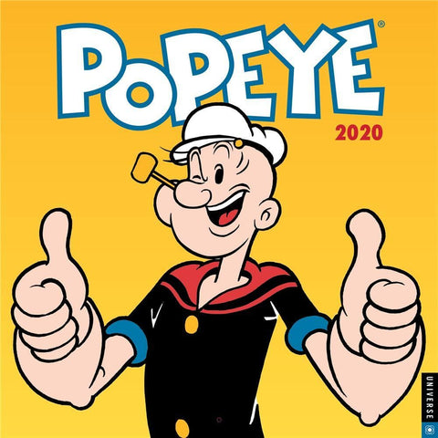 Popeye 2020 Wall Calendar Front Cover