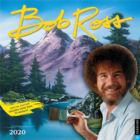 Bob Ross 2020 Special Edition Wall Calendar Front Cover