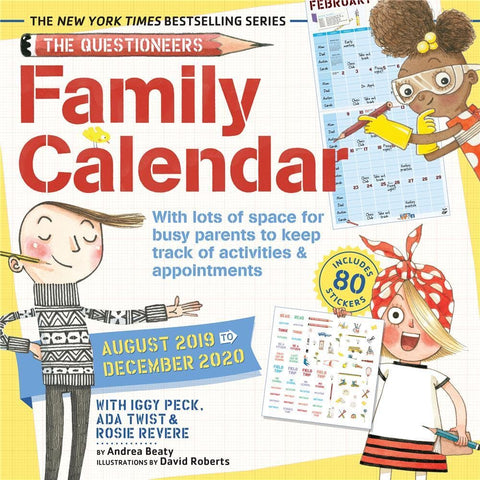 Questioneers Family Planner 2020 Wall Calendar Front Cover