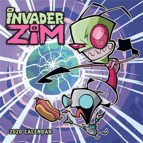 Invader Zim 2020 Wall Calendar Front Cover