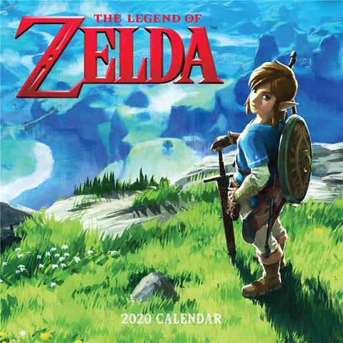 Legend of Zelda 2020 Wall Calendar Front Cover