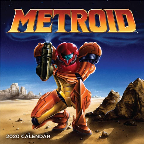 Metroid 2020 Wall Calendar Front Cover