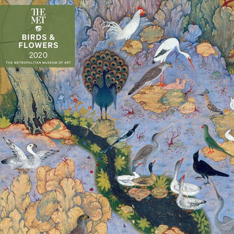 Birds and Flowers 2020 Wall Calendar Front Cover