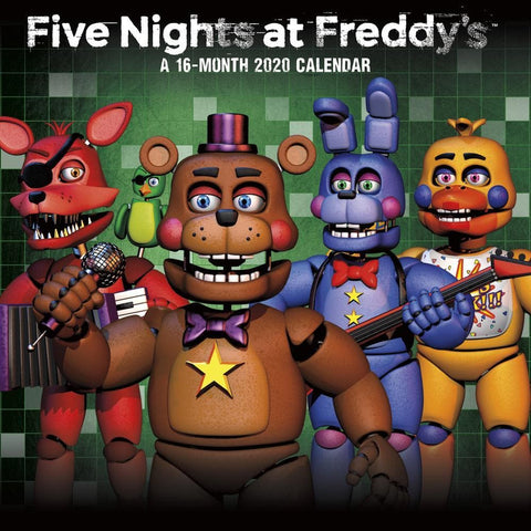 Five Nights at Freddys 2020 Mini Calendar Front Cover