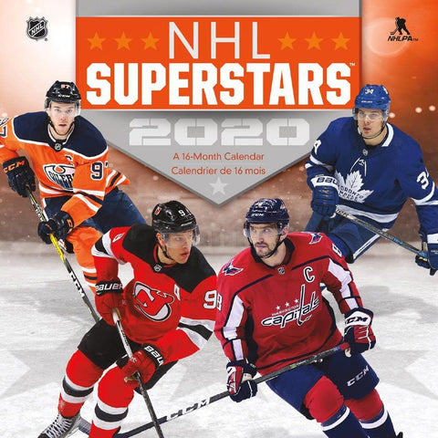 NHL Superstars 2020 Mini Calendar Front Cover