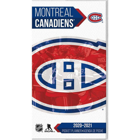 NHL Montreal Canadiens 2020 2 yr Pocket Planner Calendar Front Cover