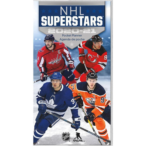 NHL Superstars 2020 2 yr Pocket Planner Calendar Front Cover