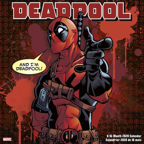 Deadpool 2020 Wall Calendar Front Cover