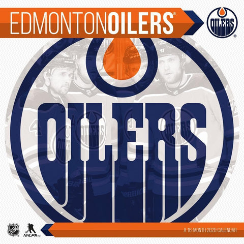 NHL Edmonton Oilers 2020 Wall Calendar Front Cover