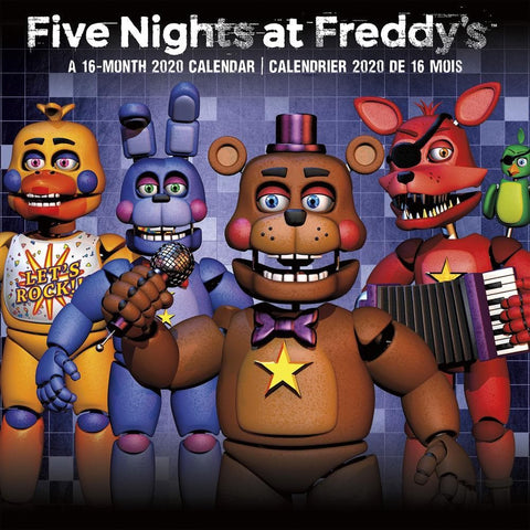 Five Nights at Freddys Bilingual 2020 Wall Calendar Front Cover