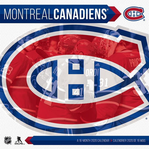 NHL Montreal Canadiens 2020 Wall Calendar Front Cover