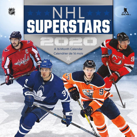 NHL Superstars 2020 Wall Calendar Front Cover