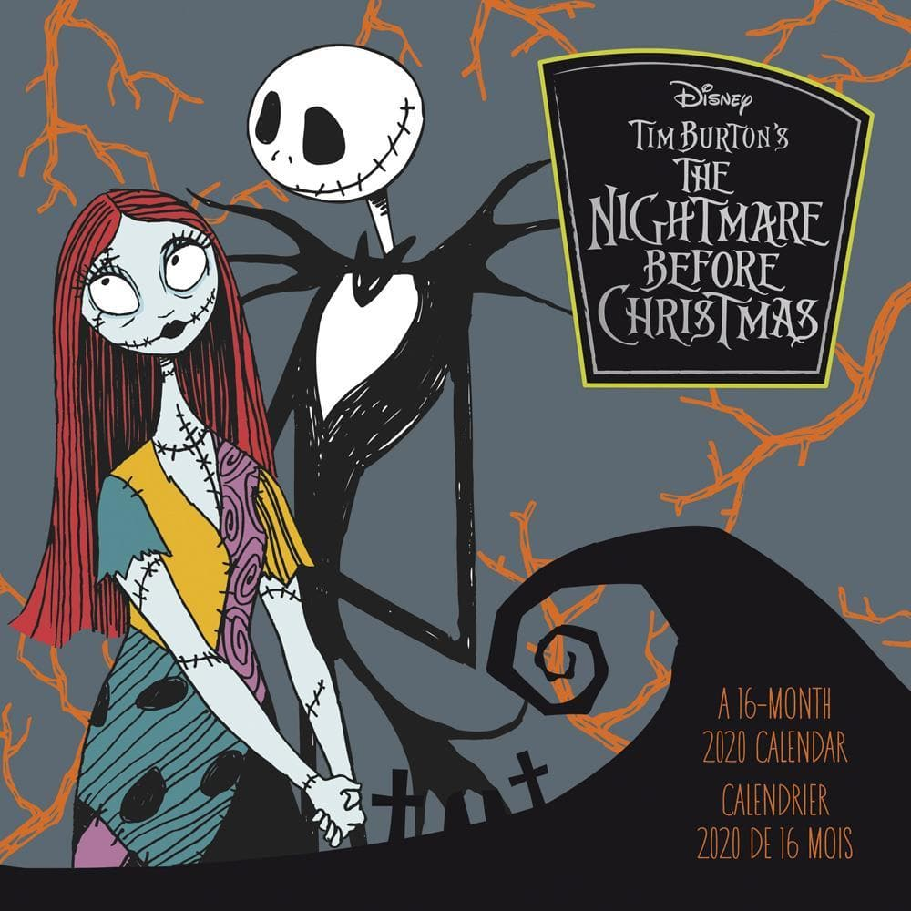 Calendrier 2020 Can.Nightmare Before Christmas 2020 Wall Calendar