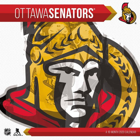 NHL Ottawa Senators 2020 Wall Calendar Front Cover