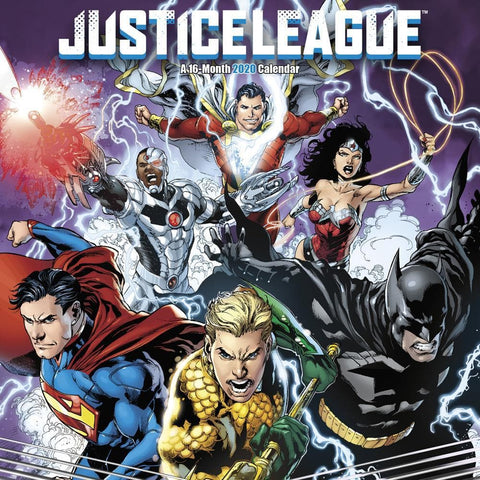 Justice League Classic 2020 Wall Calendar Front Cover
