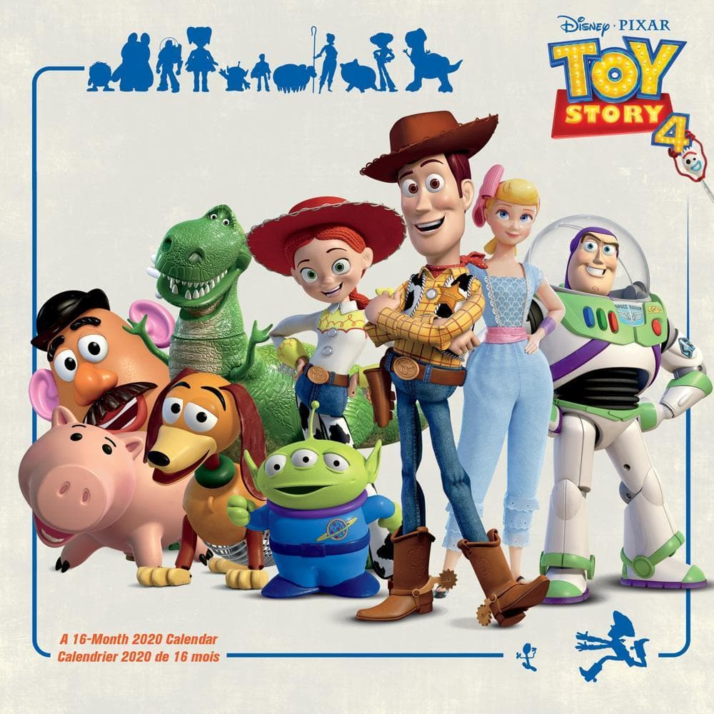 Toy Trends 2020.Toy Story 4 2020 Wall Calendar