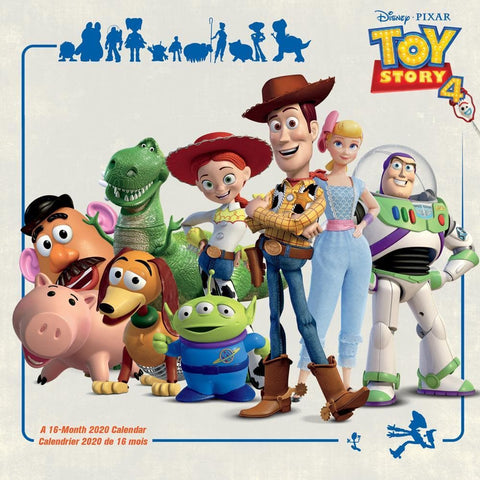 Toy Story 4 2020 Wall Calendar Front Cover