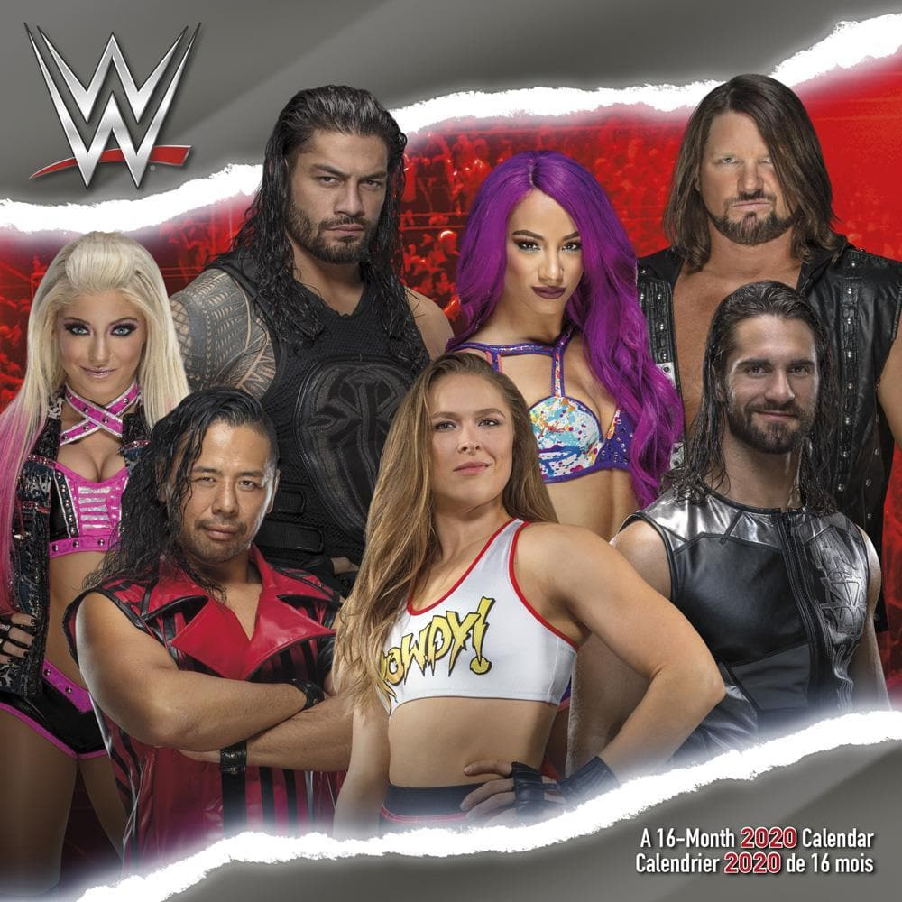 Wwe Calendar 2020 9781438870984 WWE 2020 Wall Calendar Trends International