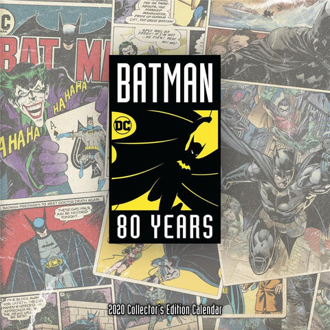 Batman 80th Collectors Edition 2020 Wall Calendar Front Cover