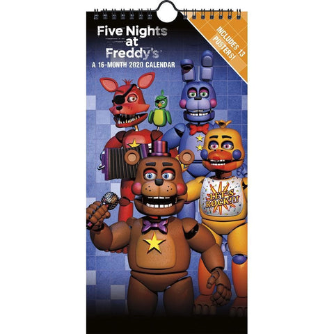 Five Nights at Freddys 2020 Slim Calendar Front Cover