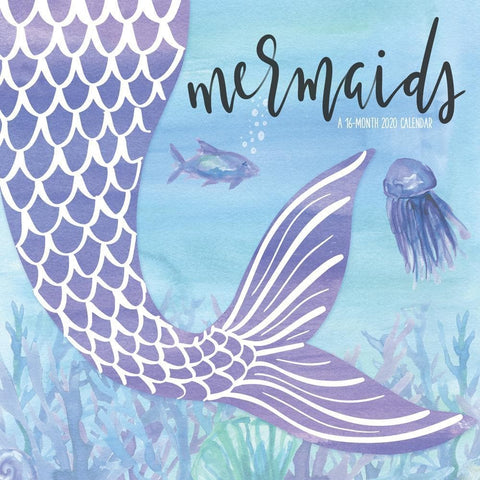 Mermaids 2020 Wall Calendar Front Cover