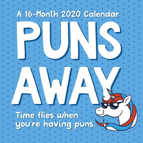Puns Away 2020 Wall Calendar Front Cover