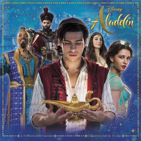 Aladdin Live Action 2020 Wall Calendar Front Cover