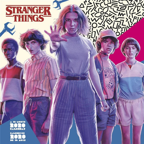 Stranger Things Bilingual 2020 Wall CalendarFront Cover