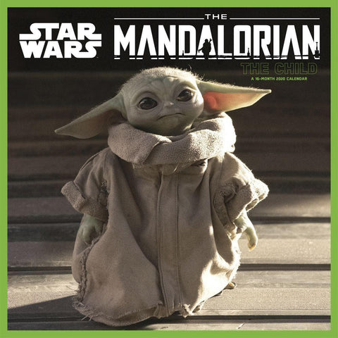 Star Wars Baby Yoda The Mandalorian 2020 Wall Calendar