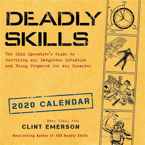 Deadly Skills 2020 Wall Calendar Front Cover