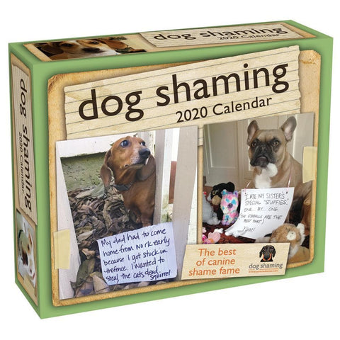Dog Shaming 2020 Box Calendar Front Cover