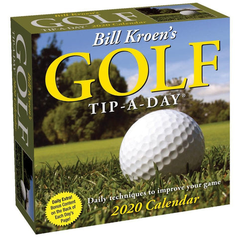 Bill Kroens Golf Tip A Day 2020 Box Calendar Front Cover